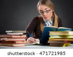 student  girl with glasses... | Shutterstock . vector #471721985