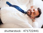 very relaxed sales executive... | Shutterstock . vector #471722441