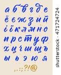 vector cyrillic alphabet ... | Shutterstock .eps vector #471724724