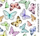 seamless vintage pattern with... | Shutterstock . vector #471730475