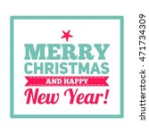 merry christmas design card... | Shutterstock . vector #471734309