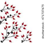 vector illustration rose hip ...   Shutterstock .eps vector #471737675