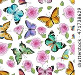 seamless colorful pattern with... | Shutterstock . vector #471738629