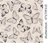 seamless vintage pattern with... | Shutterstock . vector #471739115