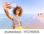 young black woman taking a... | Shutterstock . vector #471740531