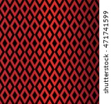 harlequin suit red and black... | Shutterstock .eps vector #471741599