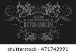 calligraphic flourishes luxury... | Shutterstock .eps vector #471742991