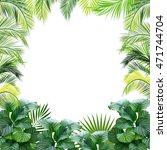tropical jungle vector...   Shutterstock .eps vector #471744704