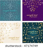 abstract luxury backgrouds set. ... | Shutterstock .eps vector #47174749