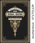 vintage whiskey label   Shutterstock .eps vector #471751139
