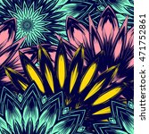 seamless floral background.... | Shutterstock .eps vector #471752861