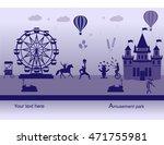 amusement park  and fairy tale... | Shutterstock .eps vector #471755981