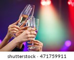 clinking glasses of champagne... | Shutterstock . vector #471759911