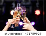 clinking glasses of champagne... | Shutterstock . vector #471759929
