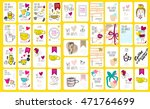 set of coffee discount cards.... | Shutterstock .eps vector #471764699