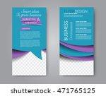 vector flyer and leaflet design.... | Shutterstock .eps vector #471765125