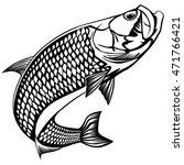black and white illustration of ... | Shutterstock .eps vector #471766421