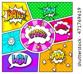 speech bubbles and sound... | Shutterstock .eps vector #471769619
