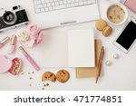 workspace with notebook... | Shutterstock . vector #471774851