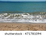 view of sand beach in halkidiki.... | Shutterstock . vector #471781094