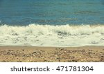 view of sand beach in halkidiki.... | Shutterstock . vector #471781304