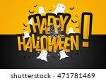 happy halloween card design... | Shutterstock .eps vector #471781469