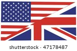 American and British English language icon isolated illustration - useful for websites - stock photo