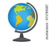 school desktop globe. vector... | Shutterstock .eps vector #471785087
