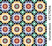 seamless mosaic tile pattern | Shutterstock .eps vector #47179246