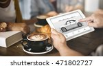 car rental salesman automobile... | Shutterstock . vector #471802727