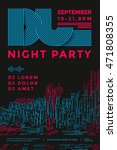 dance night party design poster.... | Shutterstock .eps vector #471808355