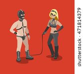 flat isometric sexy bdsm adult... | Shutterstock .eps vector #471814379
