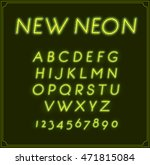 neon italic font type alphabet. ...   Shutterstock .eps vector #471815084