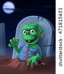zombie that goes out his grave | Shutterstock . vector #471815651