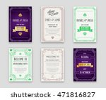 set of great quality style... | Shutterstock .eps vector #471816827
