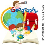 students and geography subject... | Shutterstock .eps vector #471817109