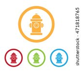 colorful fire hydrant icons... | Shutterstock .eps vector #471818765