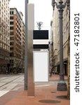 outdoor blank sign on sidewalk | Shutterstock . vector #47182801