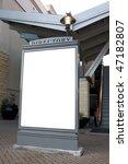 outdoor blank sign on sidewalk | Shutterstock . vector #47182807