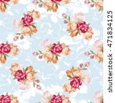 seamless floral pattern with... | Shutterstock .eps vector #471834125