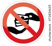 stop corruption sign on white... | Shutterstock .eps vector #471834635