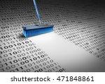 deleting data technology... | Shutterstock . vector #471848861