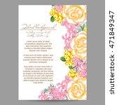 vintage delicate invitation... | Shutterstock . vector #471849347