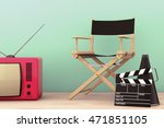 old style photo. director chair ... | Shutterstock . vector #471851105