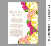 romantic invitation. wedding ... | Shutterstock . vector #471853421