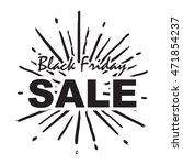 black friday sale with sun... | Shutterstock .eps vector #471854237