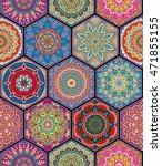 seamless tile pattern moroccan...   Shutterstock .eps vector #471855155