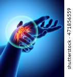 wrist painful   skeleton x ray  ... | Shutterstock . vector #471856559