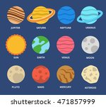 planet icon set. planets with... | Shutterstock .eps vector #471857999
