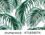 tropical seamless vector floral ... | Shutterstock .eps vector #471858074